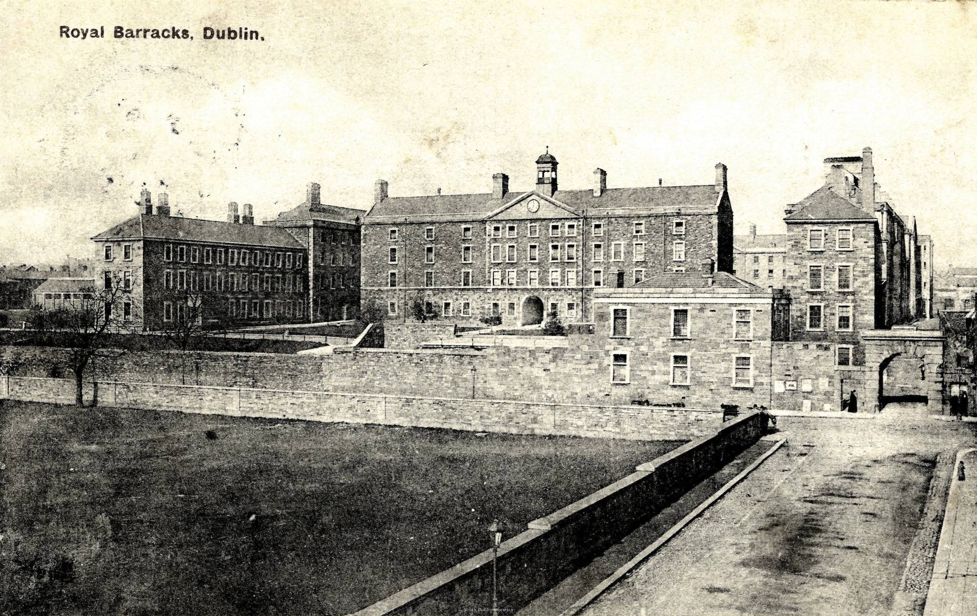 In 1902 the Royal Barracks (now Collins Barracks) acquired land for a military cemetery for the large force housed there. Courtesy of South Dublin County Libraries.
