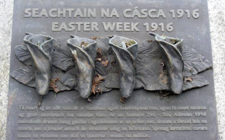 Easter Week 1916 Memorial photographed by Siobhán Farrelly. Courtesy of Dublin City Public Libraries (Picture Parnell Square Collection).