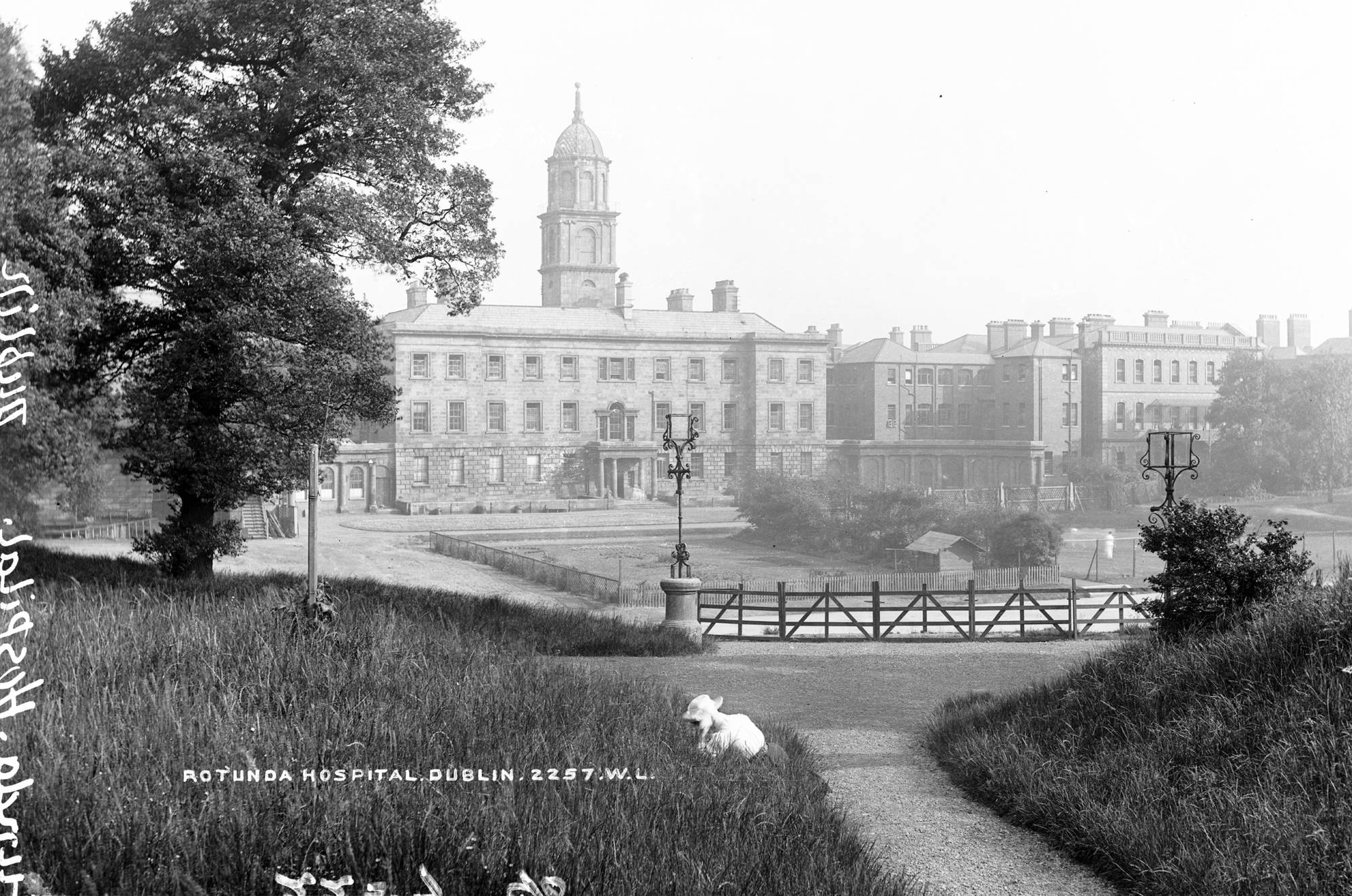Part of the Lawrence Collection, Robert French probably took this image of the back of the Rotunda (now occupied by the Garden of Remembrance) around 1900. National Library of Ireland.