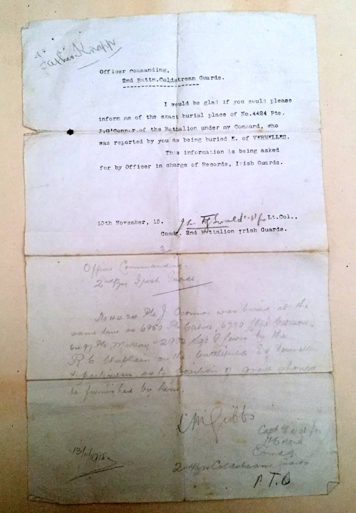 Burial inquiry letter