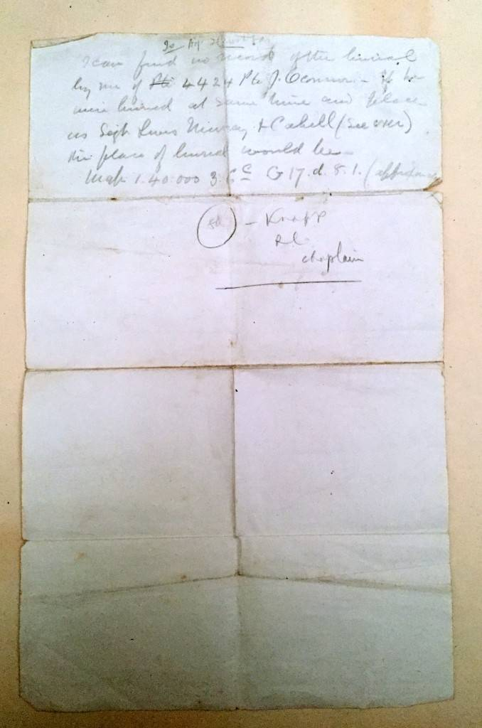 Burial inquiry letter back