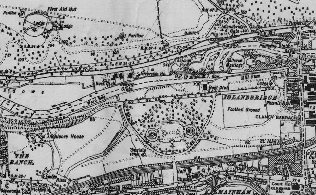 1938 Ordnance Survey Six-Inch Map. The Gardens and Park are now clearly visible. South Dublin County Council Maps Gallery.
