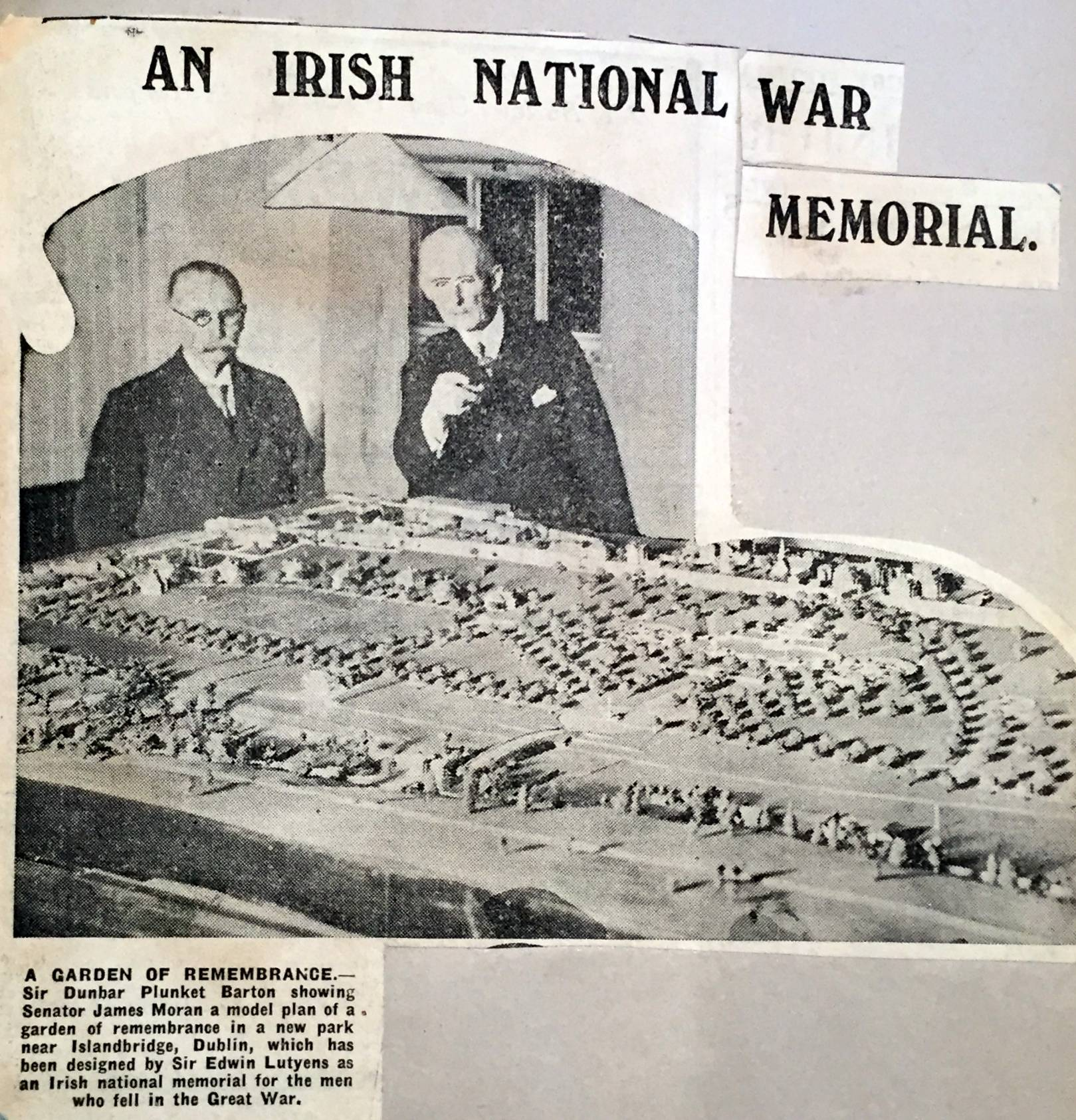 A model of Lutyens' design on display in Dublin. Irish Times, 15 December, 1931. National Archives of Ireland.