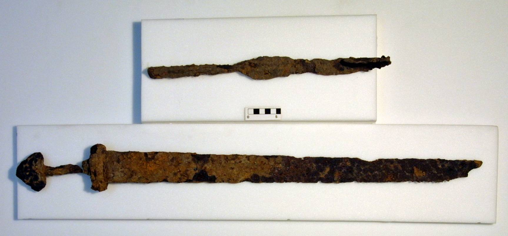 Iron sword and spearhead found in 2004. National Museum of Ireland.