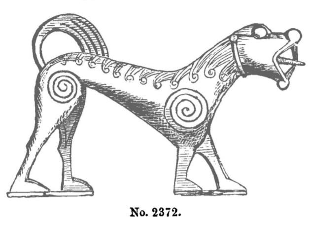 Drawing of a find from the original PRIA paper (1866).
