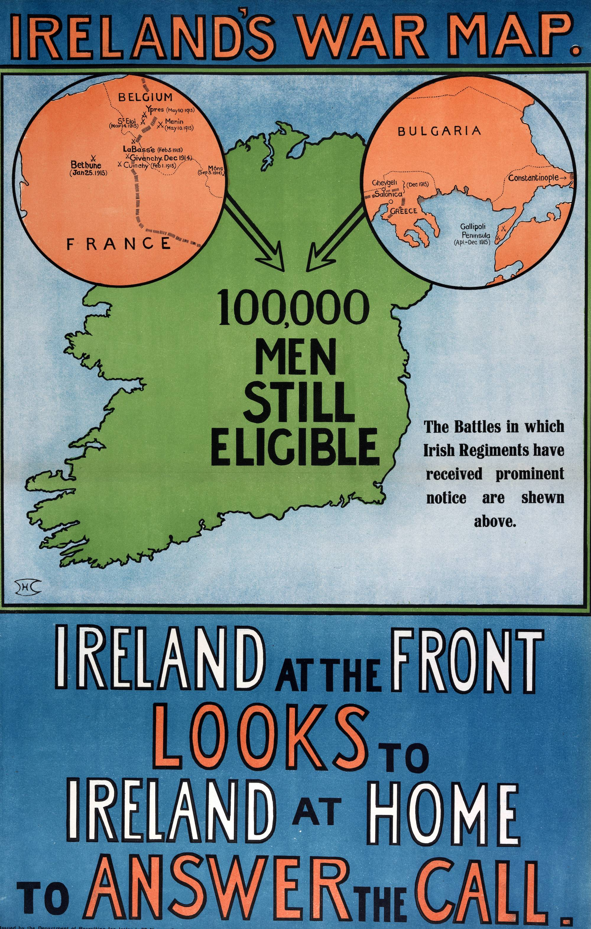 World War I Recruiting Collection: These posters and leaflets were issued by the British Army in Dublin during the war.