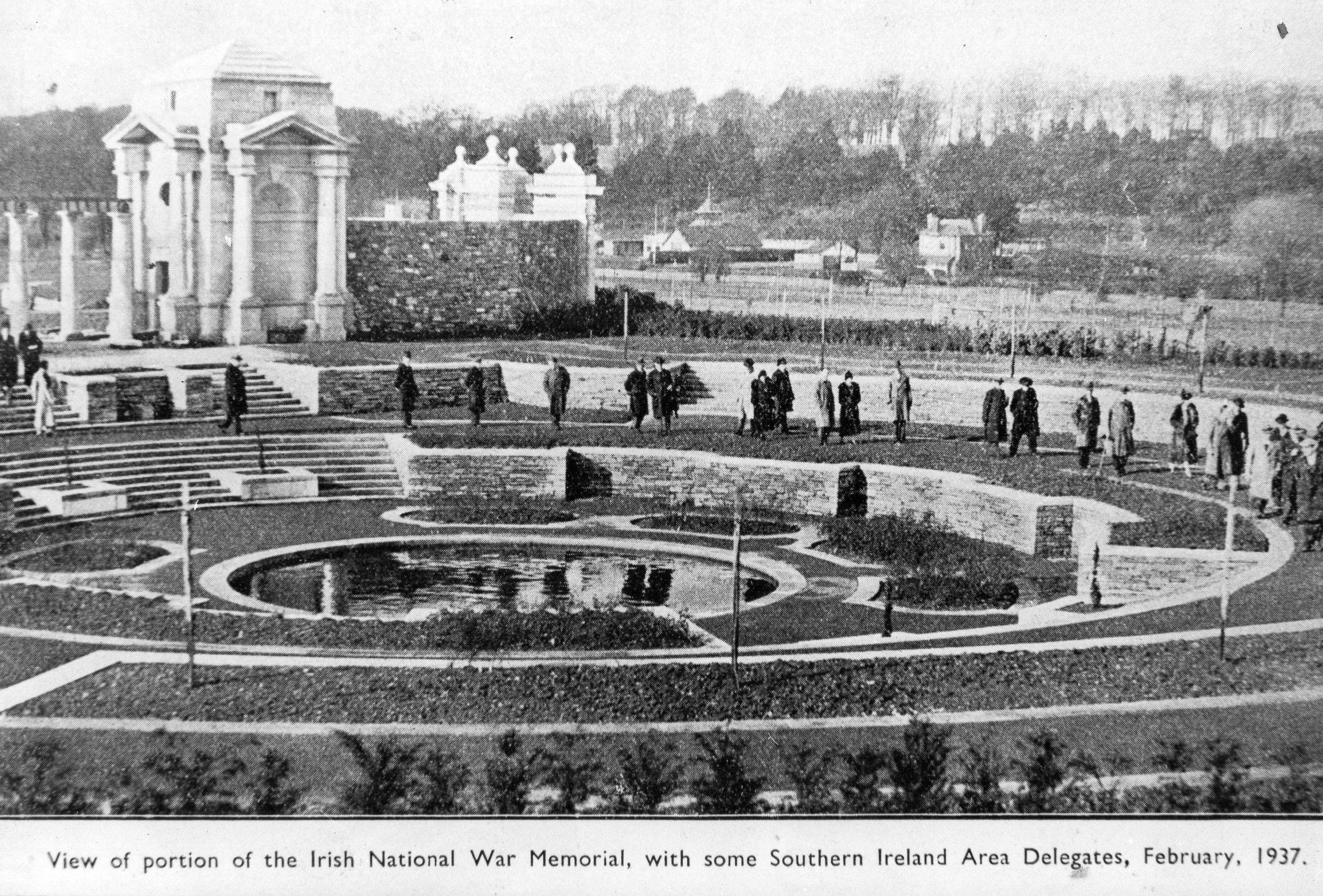 1937 view of the Gardens. OPW.